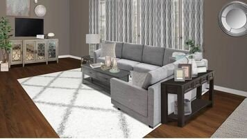 Online design Eclectic Living Room by Kimberly J. thumbnail