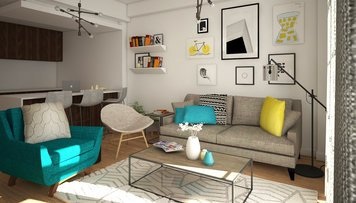 Online design Modern Combined Living/Dining by Anna T thumbnail