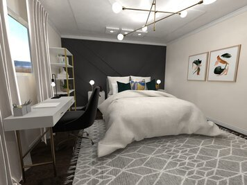 Online design Eclectic Bedroom by Jatnna M. thumbnail