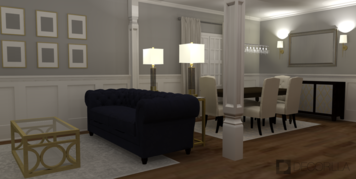Online design Traditional Combined Living/Dining by Amber K. thumbnail