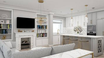 Online design Glamorous Living Room by Ioana A. thumbnail