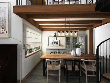 Online design Transitional Combined Living/Dining by Vale G. thumbnail