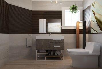 Online design Contemporary Bathroom by Wanda P. thumbnail