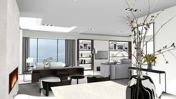Online design Contemporary Combined Living/Dining by Ilaria C. thumbnail