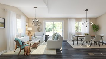 Online design Modern Combined Living/Dining by Angela S. thumbnail