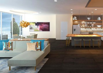 Online design Contemporary Combined Living/Dining by Pamela W. thumbnail