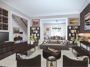 Online design Transitional Living Room by Susan V. thumbnail