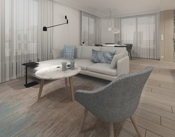 Online design Traditional Living Room by Agata M. thumbnail