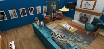 Online design Eclectic Living Room by Tamna E. thumbnail