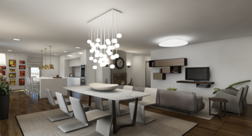 Online design Modern Combined Living/Dining by Mary B.  thumbnail