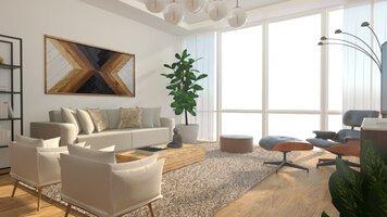 Online design Modern Living Room by Nicolle E. thumbnail