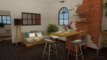 Online design Contemporary Combined Living/Dining by Nicolle E. thumbnail
