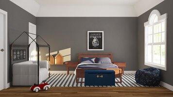 Online design Modern Bedroom by Lauren A. thumbnail