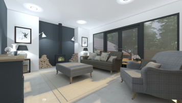 Online design Contemporary Living Room by Leah M. thumbnail