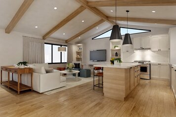 Online design Transitional Combined Living/Dining by Ibrahim H. thumbnail