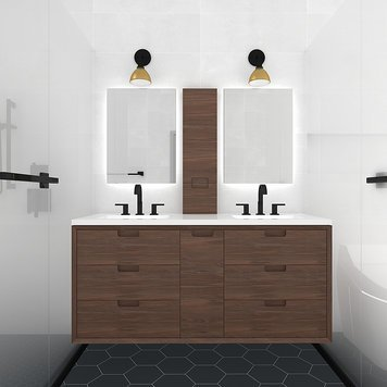 Online design Transitional Bathroom by Jessica S. thumbnail