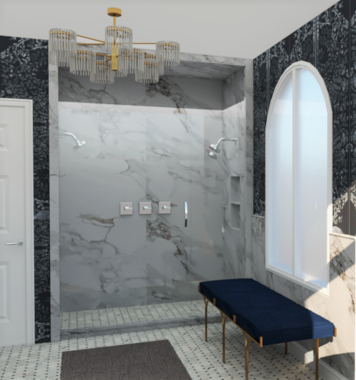 Online design Transitional Bathroom by Betsy M. thumbnail