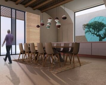 Online design Transitional Dining Room by Rawan A. thumbnail