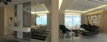 Online design Modern Combined Living/Dining by Farah H. thumbnail