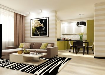 Online design Contemporary Combined Living/Dining by Luba K. thumbnail