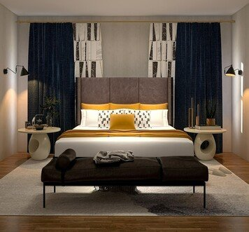 Online design Modern Bedroom by Nathan H. thumbnail
