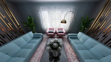 Online design Glamorous Living Room by Linde P. thumbnail