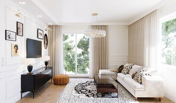 Online design Transitional Living Room by Kristina B. thumbnail