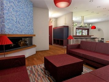 Online design Modern Combined Living/Dining by Sheena C. thumbnail