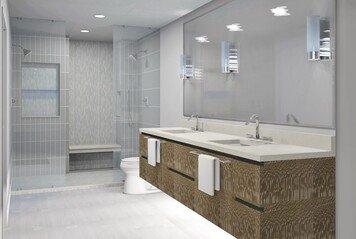 Online design Modern Bathroom by Amandela A. thumbnail