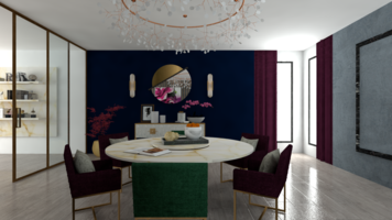 Online design Contemporary Dining Room by Aamirah P. thumbnail
