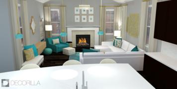 Online design Modern Living Room by Amber K. thumbnail