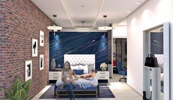 Online design Glamorous Bedroom by Allison H. thumbnail