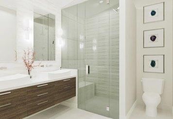 Online design Modern Bathroom by Krystyna A. thumbnail