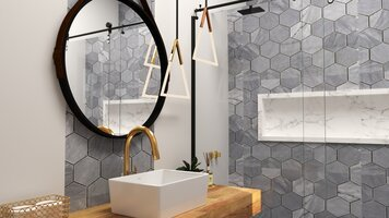 Online design Modern Bathroom by Yasmin C. thumbnail