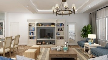 Online design Beach Combined Living/Dining by Keerthana V. thumbnail