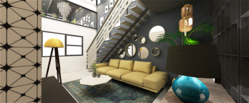 Online design Eclectic Living Room by mujtaba m. thumbnail