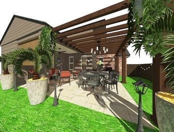 Online design Transitional Patio by Noraina Aina M. thumbnail