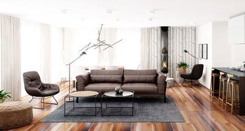 Online design Contemporary Combined Living/Dining by Margaryta S. thumbnail