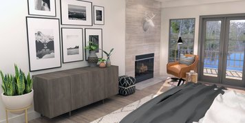 Online design Modern Bedroom by Brittany J. thumbnail