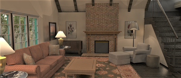 Online design Transitional Living Room by Shanthi O. thumbnail