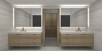 Online design Contemporary Bathroom by Lanny A. thumbnail