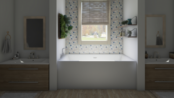 Online design Transitional Bathroom by Leah M. thumbnail