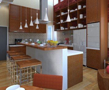 Online design Contemporary Combined Living/Dining by Sheena C. thumbnail