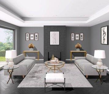 Online design Glamorous Living Room by Liz C. thumbnail