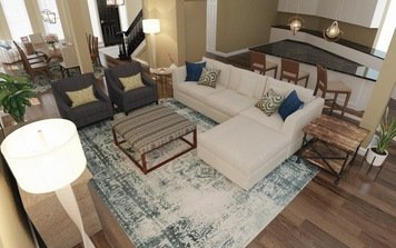 Online design Transitional Combined Living/Dining by Lacie H. thumbnail