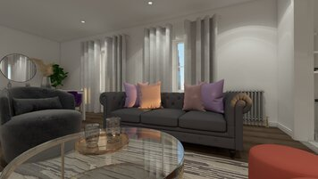 Online design Contemporary Living Room by Chante F. thumbnail
