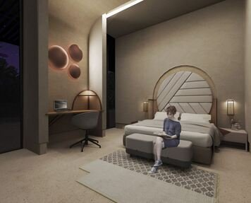 Online design Transitional Bedroom by Rawan A. thumbnail