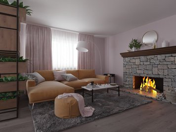 Online design Modern Living Room by Kira L. thumbnail