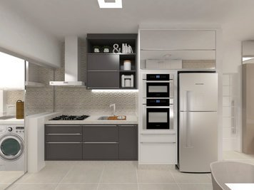 Online design Modern Combined Living/Dining by Luciana N. thumbnail