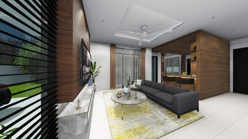 Online design Transitional Living Room by FatehahCheMat thumbnail